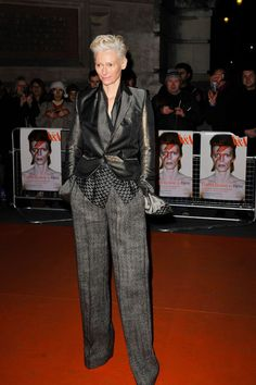 Tilda Swinton attending David Bowie Is private view at the V Museum, London, England - March 20, 2013 - Photo: Runway Manhattan/Goff Photos