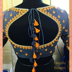 Love this blouse Best Blouse Designs, Saree Blouse Neck Designs, Bridal Blouse Designs, Saree Tassels Designs, Design Page, Stylish Blouse Design, Designer Blouse Patterns, Collection, Amazing