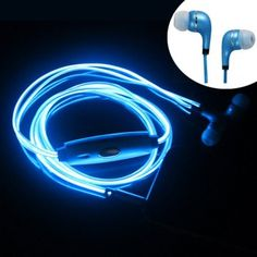 Light up your earphones to the beat of the music. You can enjoy your favorite tunes with this LED Dynamic Light Up Earphones.These extraordinary earphones will put up a spectacular LED light show as you jam to any music of your choice. The LED light will sync with the beats of you music and the mesmerizing lights will make you the center of attention anywhere, anytime.