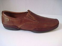 Men's Pikolinos PUERTO RICO Tanned Leather Stitched Slip On Loafers Sz 45 #Pikolinos #LoafersSlipOns