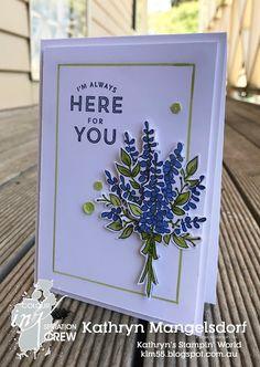 Stampin' Up! Lots of Lavender, Sale-A-Bration, CI25, Colour INKspiration designed by Kathryn Mangelsdorf