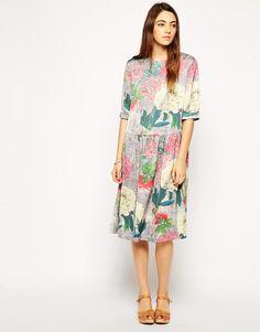 ASOS | ASOS Soft Dress with Drop Waist in Floral Print at ASOS