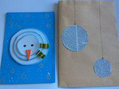 Christmas card : very  easy Snowman Man con foami o goma eva.