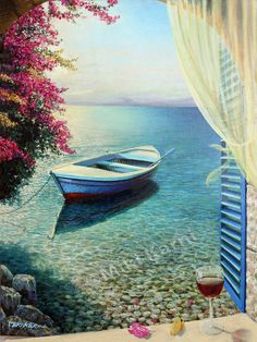 Dolce Vita  Original Oil Painting on canvas by karniart on Etsy, $2850.00