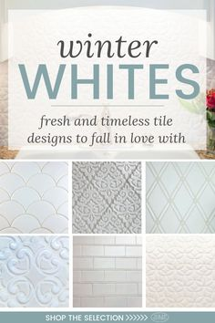 Winter Whites – Fresh & Timeless Tile Designs to Fall in Love With! The color wh… Winter Whites – Fresh
