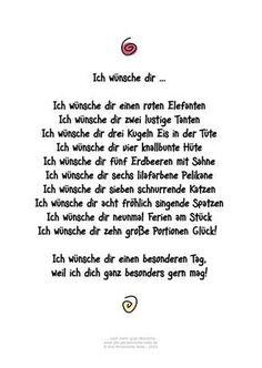 Die Persönliche Note: Ich wünsche dir ... Humorvolles Gedicht für Geburtstagsgrüße und andere Gelegenheiten: