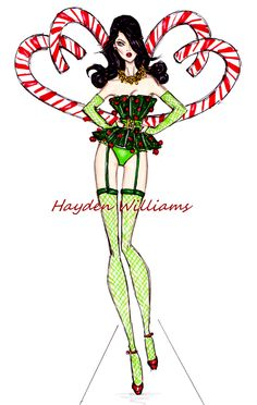 VS Angels collection by Hayden Williams: Candy Cane