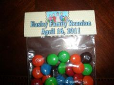 family reunion ideas | Photo Gifts and Reunion Favors