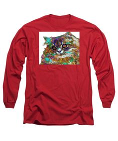 Long Sleeve T-Shirt - Adele The Cat. Pet Series