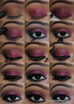 #tutorial #maquiagem #SombraVinho #glaumaquiagem @glauarruda