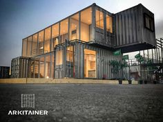 Container Office, Container Shop, Container Cabin, Shipping Container Buildings, Shipping Container Home Designs, Shipping Containers, Container Architecture, Architecture Design, Sustainable Architecture