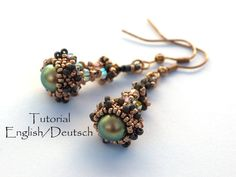 Beading Pattern 2 in 1 Tutorial Anleitung (English/Deutsch) Earrings Ohrringe von PrettyNett
