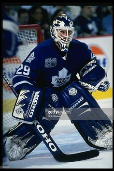 Goalie Gear, Goalie Mask, Hockey Goalie, Hockey Teams, Hockey Players, Ice Hockey, Hockey Stuff, Toronto Maple Leafs, Maple Leafs Hockey