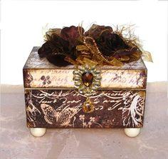 Winter Forest Trinket Box-trinket box, paper covered jewelry box, jewelery box, jewellery box
