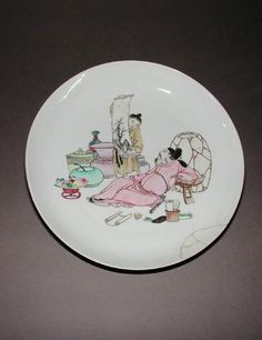 Maker(s) & Production:  Unknown, production, China  Category:  hard-paste porcelain  Name:  saucer dish