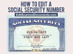 Number Templates Card Code Social Security Custom Fonts Your Cards Coding Names Fill