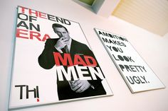 MockUp Mad Men poster (at the right, a Radiohead fan poster that i did)