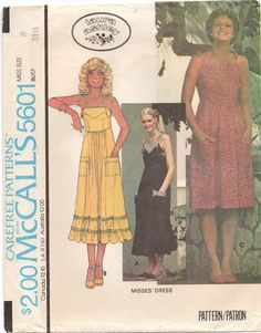 This is a 1977 McCalls pattern for a summer dress by Laura Ashley. Size 12 Bust Pattern is cut and complete Vintage Dress Patterns, Clothing Patterns, Vintage Dresses, Vintage Outfits, Vintage Fashion, 1970s Dresses, Laura Ashley Patterns, Laura Ashley Fashion, Ashley Clothes
