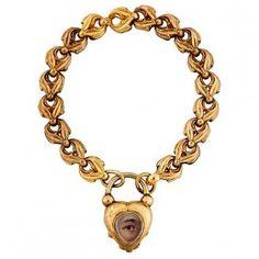 Lover's Eye 19th century heart bracelet : Lot 4