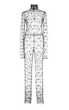 bwahahahahahaha!!!!!!!!!!!!!! Embroidered Star Tulle Jumpsuit by Monique Lhuillier for Preorder on Moda Operandi