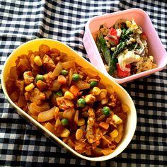 見えないけど、ごはんはパセリライス♪ - 18件のもぐもぐ - 今日のお弁当。ドライカレー&サラダ。 by tommeg1202