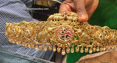 Indian Jewellery Designs - Latest Indian Jewellery Designs 2020 ~ 22 Carat Gold Jewellery one gram gold Buy Gold Jewellery Online, 1 Gram Gold Jewellery, Mens Gold Jewelry, Indian Jewellery Design, Indian Jewelry, Jewelry Design, Vaddanam Designs, Waist Jewelry, 22 Carat Gold