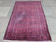 Old-Traditional-Persian-Wool-Red-6-x-4-Oriental-Handmade-Carpet-Rugs-186x131cm