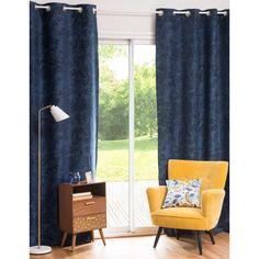 �senvorhang aus Baumwolle blau 105 x 270 cm HOLBORN