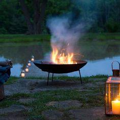 cast iron dish fire