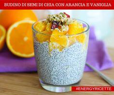 "Nuova #energyricetta ""BUDINO DI SEMI DI CHIA CON ARANCIA E VANIGLIA"" #vegan #senzalattosio #senzaglutine #energyfood #rawfood"
