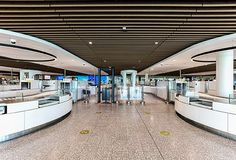 We've recently designed & supplied the #WoodCeiling for Bristol Airport's security search & baggage reclaim areas