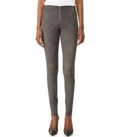 Alice And Olivia Front Zip Suede Leggings In Charcoal Brown Leggings, Brown Pants, Best Leggings, Grey Pants, Leggings Are Not Pants, Suede Pants, Suede Leggings, Leather Pants, Lederhosen