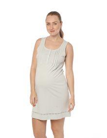 cadc2b08a Pijamas de maternidad · Camisola de lactancia 100% algodón pima sin mangas  menta