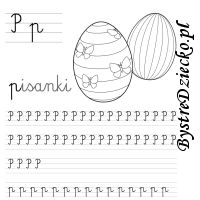 Nauka pisania literek – P jak pisanki Math, Words, Math Resources, Horse, Mathematics