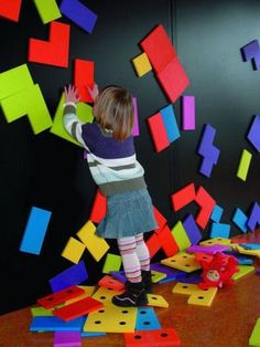 This Magnetic Wall is terrific for a sensory room- giving endless hours of imaginative and safe play for children with autism ADHD or just plain creative. The same wall can be used for adults with alzheimers or other cognitive issues. Sensory Wall, Sensory Rooms, Autism Sensory, Sensory Activities, Sensory Tubs, Sensory Boards, Sensory Bottles, Motor Activities, Magnetic Paint
