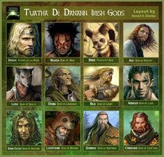 In Celtic mythology, the Tuatha De Danann (children of the goddess Danu) were the last race of gods to occupy and conquer the British Isles before men came and took the land away from them. The Tuatha De Danann were gifted warriors and learned in magic. Irish Mythology, World Mythology, Irish Celtic, Celtic Art, Mythological Creatures, Mythical Creatures, Woodblock Print, Jean Giraud, Legends And Myths
