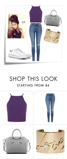 """""""Page after Page """" by bowkam ❤ liked on Polyvore featuring Post-It, Topshop, Givenchy, Lanvin and Converse"""