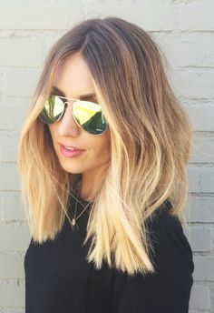 Lob Haircut looks fantastic! Ps - what's that blonde at the end?! I need that.