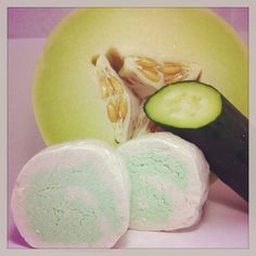 Bubbly Bath Solid THREE Cucumber Melon Vegan by NaturallySoYoung, $9.00