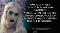 alice no pais das maravilhas frases 4 Panel Life, Alice Madness Returns, Character Quotes, Lewis Carroll, Motivational Phrases, Film Serie, Tim Burton, Words Quotes, Alice In Wonderland