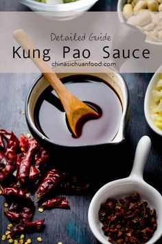 Kung Pao Sauce detailed guideline about how to prepare a well balanced kung pao sauce - Kung Pao Sauce – China Sichuan Food Sauce Recipes, Chicken Recipes, Cooking Recipes, Kung Pao Sauce Recipe, Cooking Tips, Fondue, Marinade Sauce, Teriyaki Sauce, Homemade Sauce