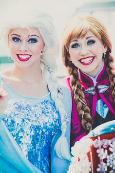 Elsa and Anna > so pretty...I think that it would be better if Anna wasn't wearing quite so much makeup :)