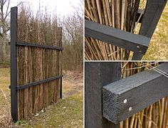 Make fences out of your garden waste. This would be great to create a wind break using my willow branches