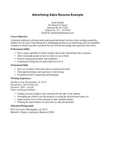 1000 Images About Advertising Resume Objectives On