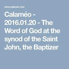 Calaméo - - The Word of God at the synod of the Saint John, the Baptizer Saint John, Word Of God, Romania, Saints, Words, San Juan, Horse