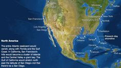 National Geographic has a good interactive map showing what 216 feet of sea level rise will do to coastlines around the world. Vancouver Seattle, National Geographic Society, Sea Level Rise, What The World, State Of Florida, Interactive Map, Earth Science, Bad News, Global Warming