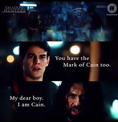 """""""Original Sin"""" - Simon did it. Not only did he find the oldest vampire, he found Cain. Shadowhunters Tv Show, Shadowhunters The Mortal Instruments, Mark Of Cain, Clary And Jace, Simon Lewis, The Dark Artifices, Abc Family, City Of Bones, The Infernal Devices"""