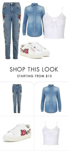 """""""nbgvhg"""" by v-askerova on Polyvore featuring мода, Topshop и 7 For All Mankind"""