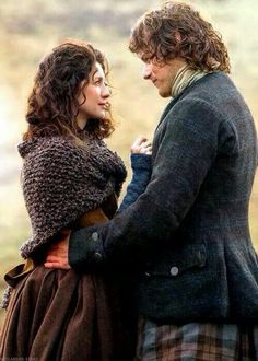 Outlander episode 8 - This is how I see them in the book, mind you Claire is too tall but at least she doesn't look as skinny and her hair is right!