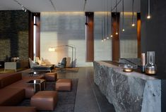 Basalt Architects completes hotel at Iceland's Blue Lagoon resort Blue Lagoon Hotel, Blue Lagoon Resort, Lobby Bar, Hotel Lobby, Lobby Lounge, Lobby Interior, Interior Design, Design Studio, House Design